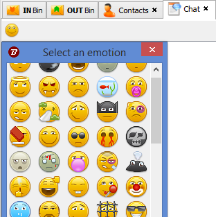 live chat emoticons