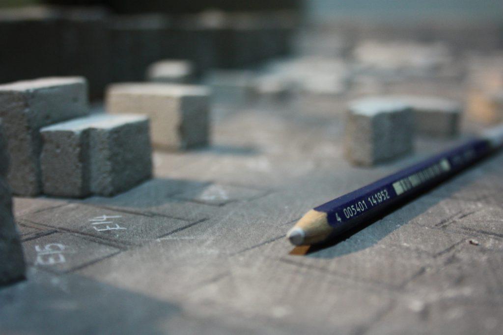 Pencil on Concrete