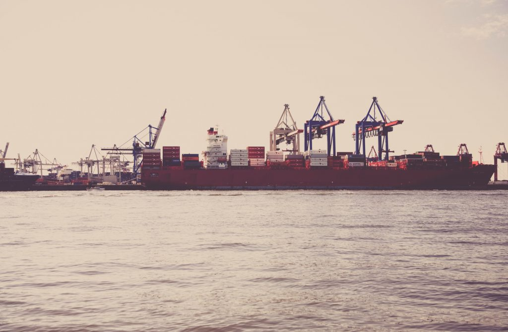 Freight Ship in Port