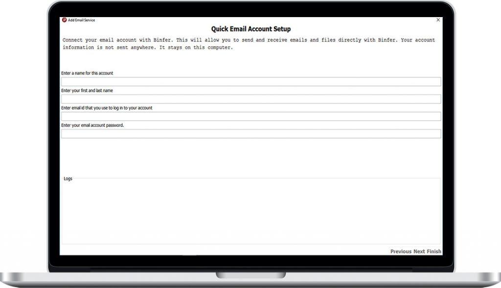 Binfer Email Setup