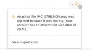 Send large files fast binfer email attachment error