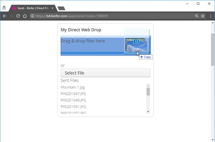 Browser Web Drop