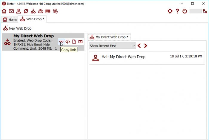 Copy Web Drop Link